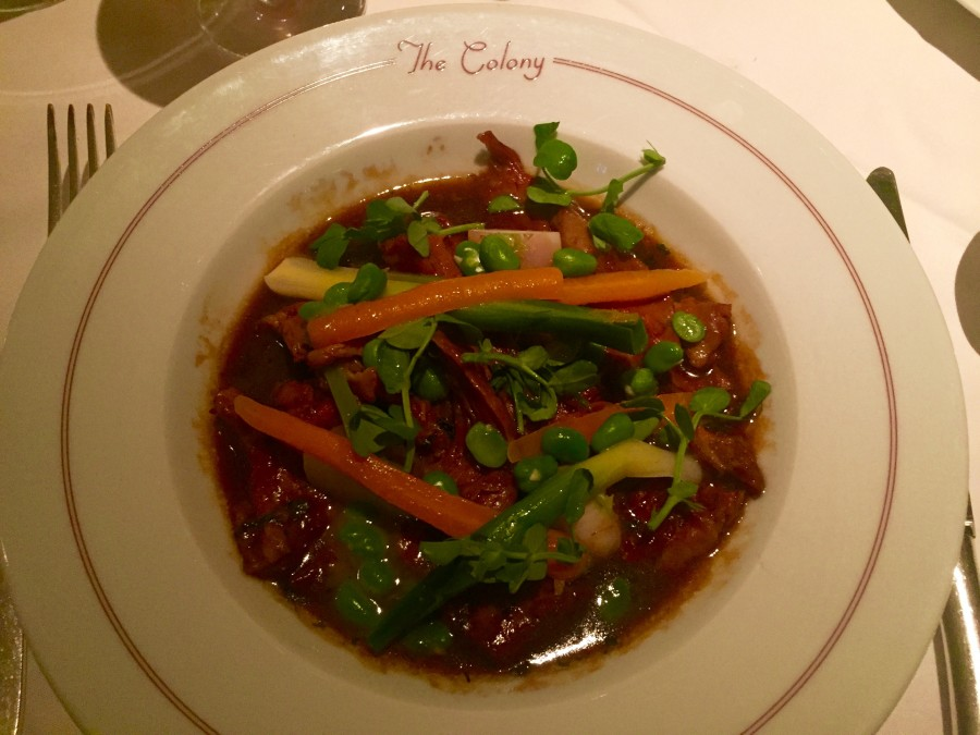 Navarin of lamb Colony Grill Room
