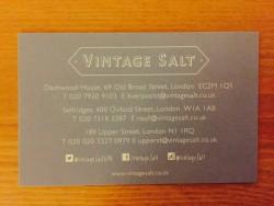 Vintage Salt business card