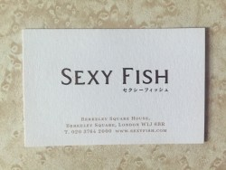 Sexy Fish business card