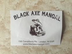 Black Axe Mangal business card
