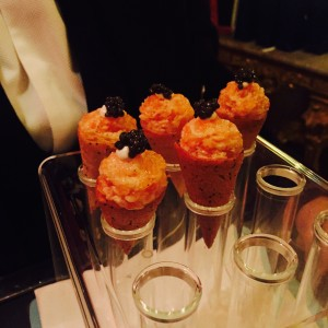 Canapes at The Ritz