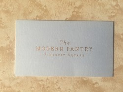 The Modern Pantry business card