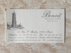Benoit business card