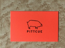 Pitt Cue business card