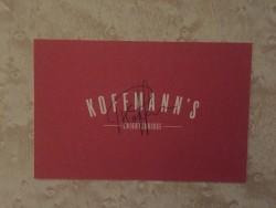 Koffmann's business card