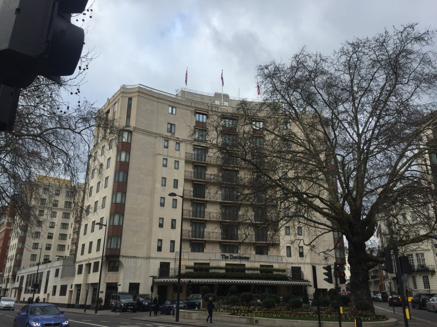 The Dorchester outside