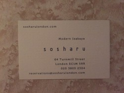 Sosharu business card