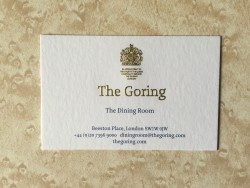The Goring business card