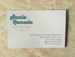 Santo Remedio business card
