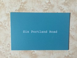 Six Portland Road business card