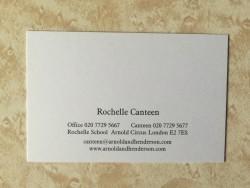 Rochelle Canteen business card