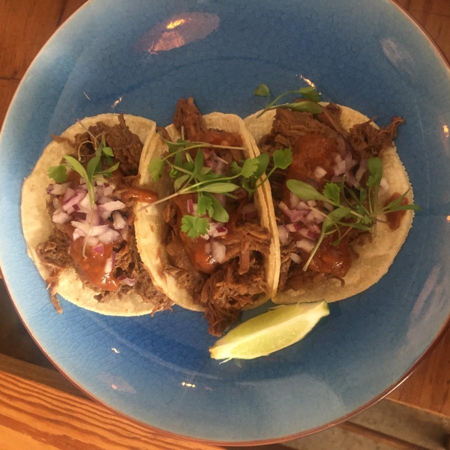 Santo Remedio beef tacos