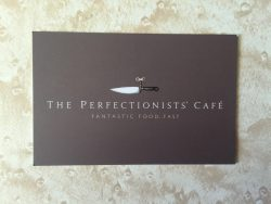 The Perfectionists' Café business card